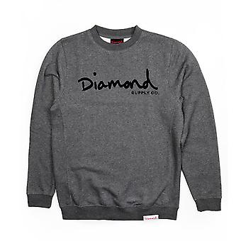 Diamond Supply Co. OG Script Core Sweatshirt Gunmetal
