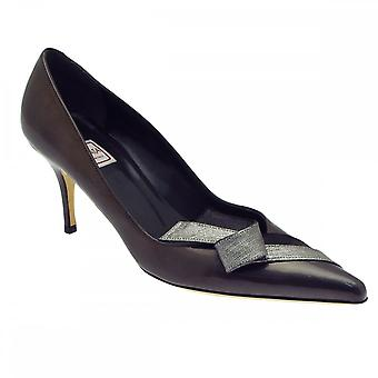 huge selection of e3111 316f9 Renata Grey Patent High Heel Court Shoe