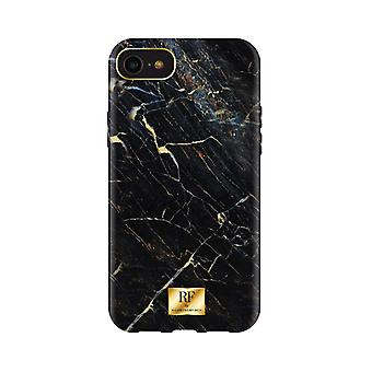 RF door Richmond & Finch Shell voor iPhone 8/6/7/SE - Zwart Marmer