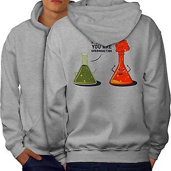 Chemistry Lab Funy Men GreyHoodie Back | Wellcoda