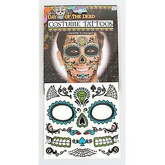 Halloween e horror tatuaggio Dia de los Muertos