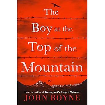 Der junge an der Spitze des Berges