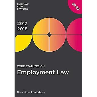 Estatutos de núcleo de empleo ley 2017-18 (Palgrave núcleo estatutos)