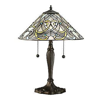 Delfina medio estilo Tiffany lámpara de mesa - interiores 1900 64055