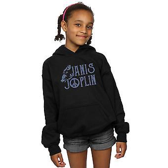 Janis Joplin Mädchen geben Logo Hoodie