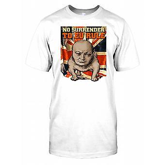 Geen overgave aan EU-regel - Winston Churchill - Bulldog Mens T Shirt