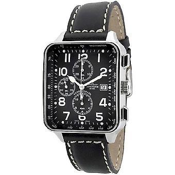 Zeno-Watch Herrenuhr SQ Pilot Chronograph Date 150TVD-a1