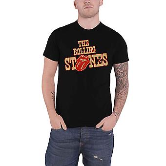 The Rolling Stones T Shirt Wild West Logo new Official Mens Black