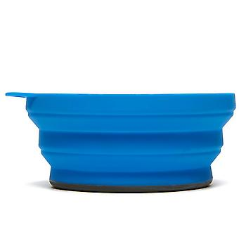 New LIFEVENTURE Silicon Ellipse Bowl Camping Cooking Eating Blue