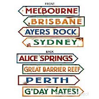 Australiska Street Sign kartong Cutouts