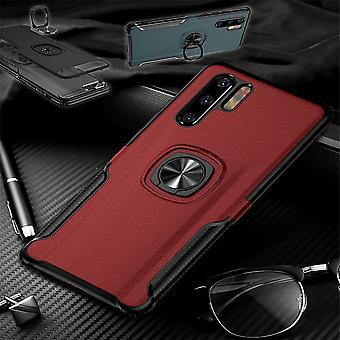 Dla Samsung Galaxy A40 5,9 cala magnes metalowy pierścień hybrydowy przypadek czerwona torba futerał pokrowiec