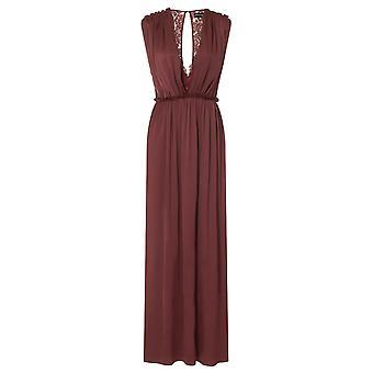 Little Mistress Womens/Ladies Sateen Lace Maxi Dress