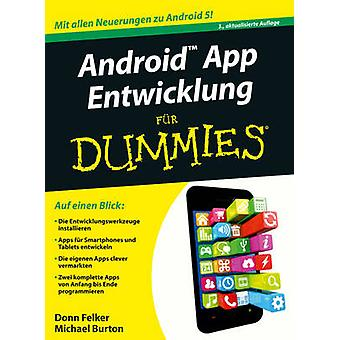 Android App-Entwicklung Fur Dummies (3rd Revised edition) by Donn Fel