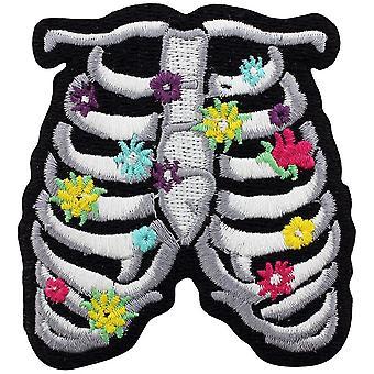 Grindstore floral ribcage patch