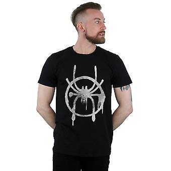 Marvel miesten Spider-Man Into Spider-Verse spray Icon T-paita