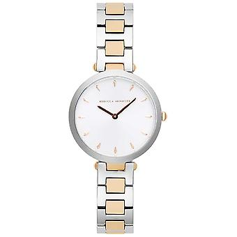Rebecca Minkoff Womens Nina | Two-Tone Stainless Steel | Silver/White Dial | 2200279 Watch