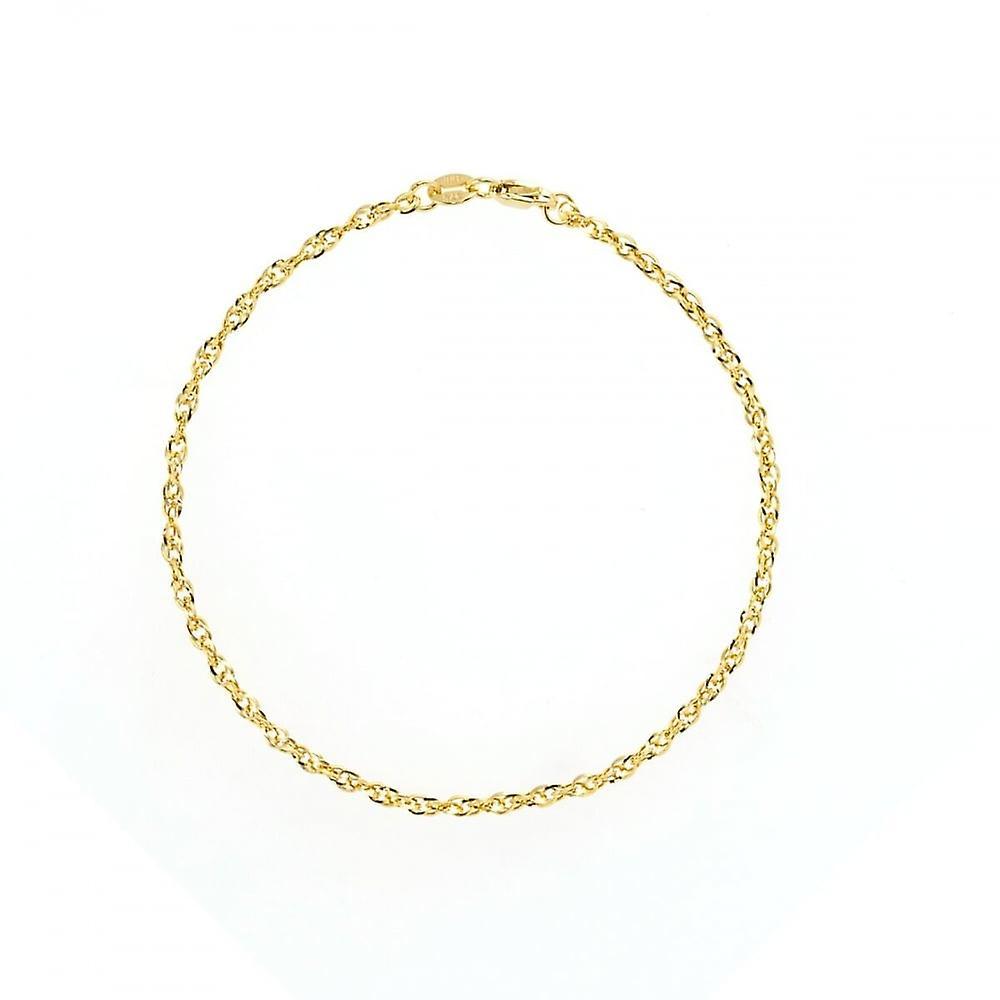 Eternity 9ct Gold Ladies Diamond Cut 7 1/4'' Prince Of Wales Bracelet