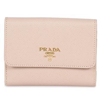 Prada Beige Saffiano Leather Flap Wallet 1MH523 QWA F0236