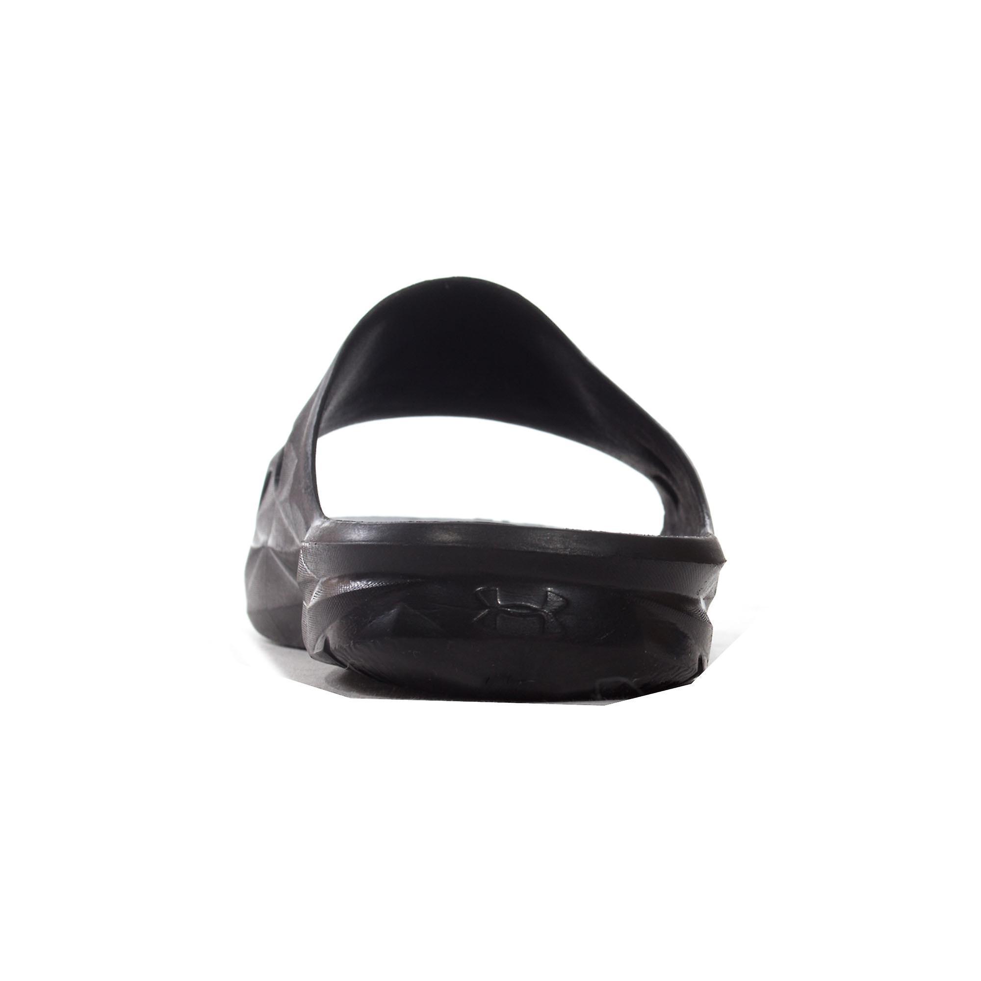 Under Armour Locker III Mens Adults Flip Flop Sandal Slide Black