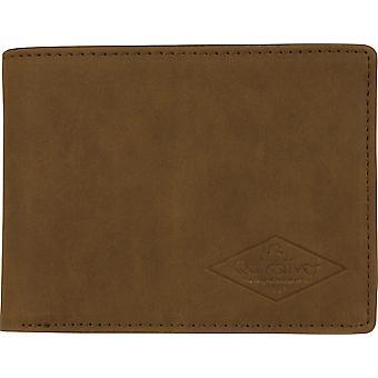 Quiksilver mens slanke Vintage III Bi-fold Portemonnee-rubber bruin