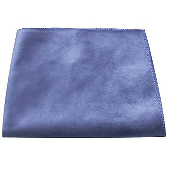 Luxury Ocean Blue Velvet Pocket Square