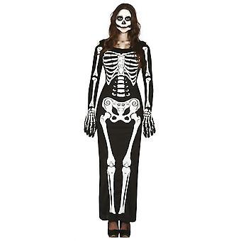 Naisten Lady Skeleton Halloween Fancy mekko puku