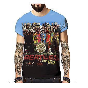 Born2rock - sgt pepper's - the beatles mens t-shirt