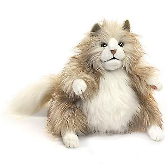 Hand Puppet - Folkmanis - Cat Fluffy New Animals Soft Doll Plush Toys 2566