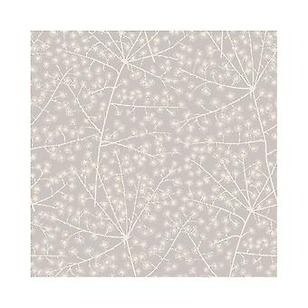 Arthouse Catkin Floral Trees Smooth Metallic Flower Pattern Fond d'écran 902603