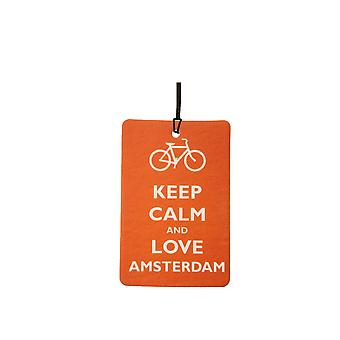 Keep Calm And Love Amsterdam Car Air Freshener
