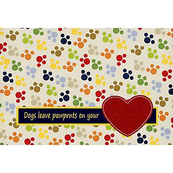 Dogs leave pawprints on your heart Fabric Placemat
