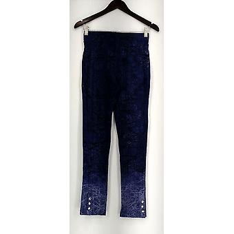 Slimming Options for Kate & Mallory Leggings Printed Ankle Snaps Blue A434323