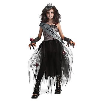 Girls Age 5 - 12 Years Gothic Prom Queen Princess Halloween Fancy Dress Costume