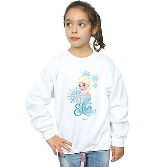 Disney Girls Frozen Elsa Snowflakes Sweatshirt