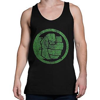 Hulk vuist bump op zwarte mannen ' s Tank Top