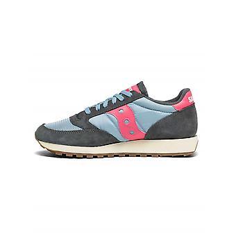 Saucony Grey & Pink Jazz Original Vintage Sneaker