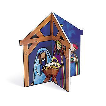 3D Krippe Christian Weihnachtstisch Herzstück | Christliche Krippen