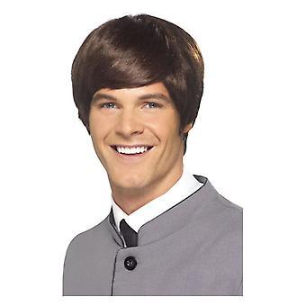 Ανδρική 60s αρσενικό mod περούκα φανταχτερό φόρεμα αξεσουάρ