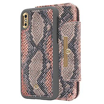 Marvêlle iPhone X/Xs Magnetic Case & Wallet Snake Chic