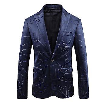 Allthemen muži ' s geometrické linie obchod příležitostný Blazer
