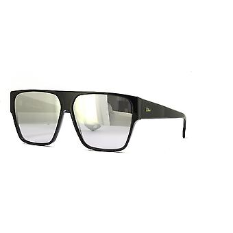 Dior Hit 807/0T Black/Grey-Silver Mirror Sunglasses