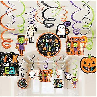 Amscan Halloween Swirl Decorations (30 Pieces)