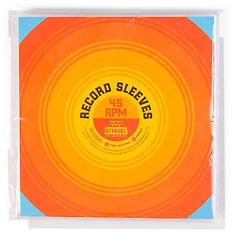 45 RPM Vinyl Record Sleeves, 100-pack