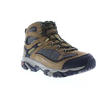 Hi-Tec Ravus Explorer Mid  Mens Brown Suede Lace Up Hiking Boots Shoes