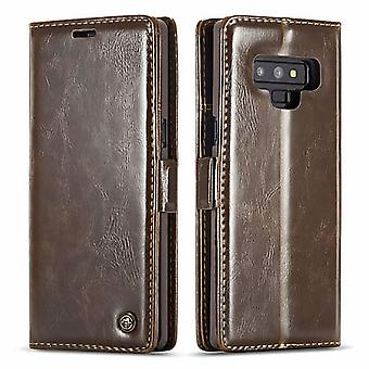 Case voor Samsung Galaxy Note 9 Brown-kaarthouder