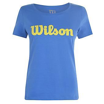 Wilson Womens Script T Shirt Ladies Short Sleeve Performance T-Shirt Top