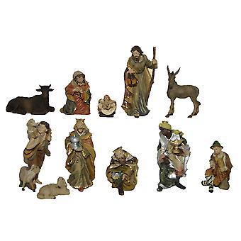 Nativity figures 11-pcs. Set of synthetic resin crib figurines JOEL 13 cm