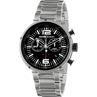 MOMO Design EVO Watch MD1012BS-10 - Stainless Steel Gents Quartz Chronograph