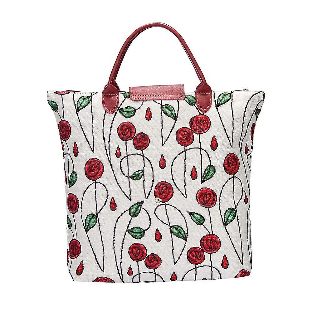 Mackintosh - simple rose foldaway shopping bag by signare tapestry / fdaw-rmsp