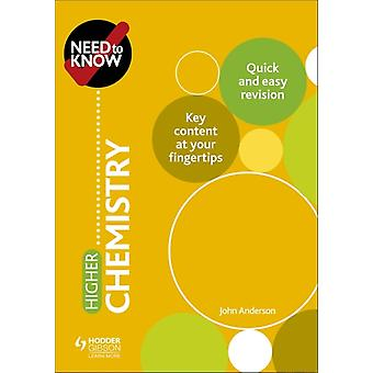Need to Know Higher Chemistry by David Horner